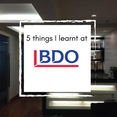 5 things at BDO-01
